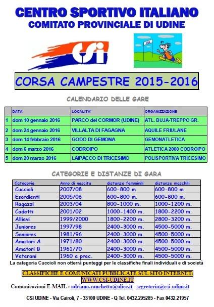 Calendario Csi.Calendario Campestre Csi Udine 2016 Archivio Del Csi